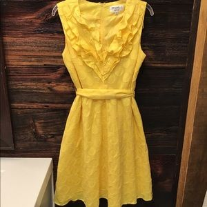 Studio I Sleeveless Dress Polka Dot Yellow 12P